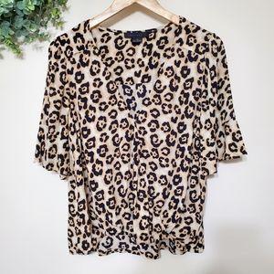 Sanctuary Leopard Animal Print Blouse Medium